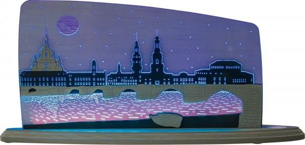 Weigla LED Motivleuchte Dresden bei Nacht