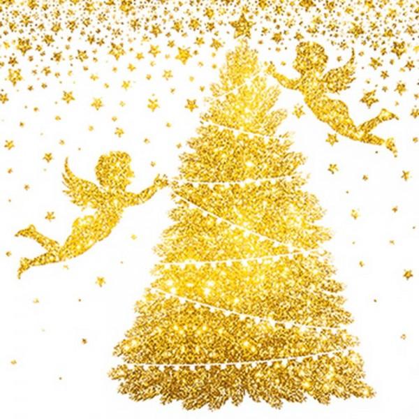 Weihnachtsservietten Glorious Angels von Home Fashion®