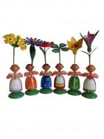 Vorschau: Blumenkinder von WEHA-Kunst Mädchen, 6 Stück, 11 cm_Bild2