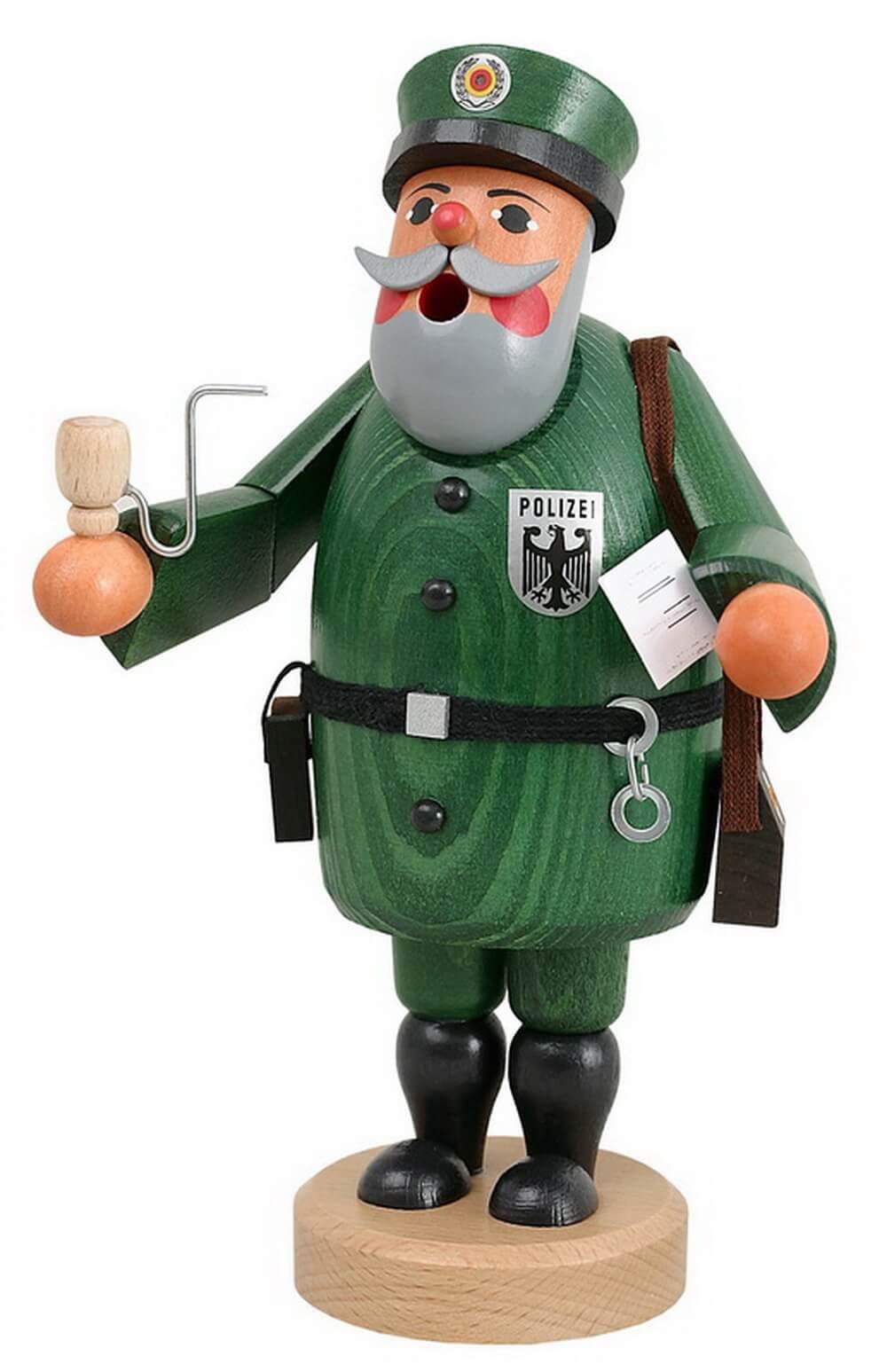 Räuchermännchen Polizist von Karl Werner Sayda / Erzgebirge Die Polizei. Dein Freund und Helfer. Auch dieser Polizist will ein Freund und Helfer in Ihrem zu …