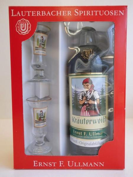 Kräuterlikör Kräuterweibl von Ullmann, 0,7l, 35 % vol., Nach einem alten Familienrezept wird dieser milde Likör aus ausgesuchten Kräutern hergestellt. Seinen …