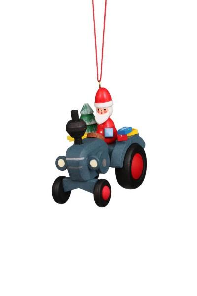 Baumbehang &Christbaumschmuck Traktor mit Weihnachtsmann, 6 Stück, 6 x 6 cm von Christian Ulbricht Seiffen/ Erzgebirge
