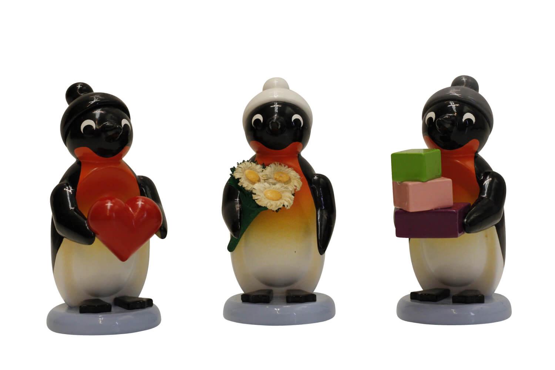 Pinguine von Nestler-Seiffen als Gratulanten, 3 - teilig, farbig _Bild1