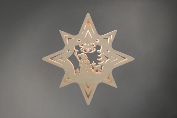 Weihnachtlicher Fensterschmuck & beleuchtetes Fensterbild Stern Schneemann, elektrisch beleuchtet, von Weigla - Günter Gläser Deutschneudorf/ Erzgebirge …