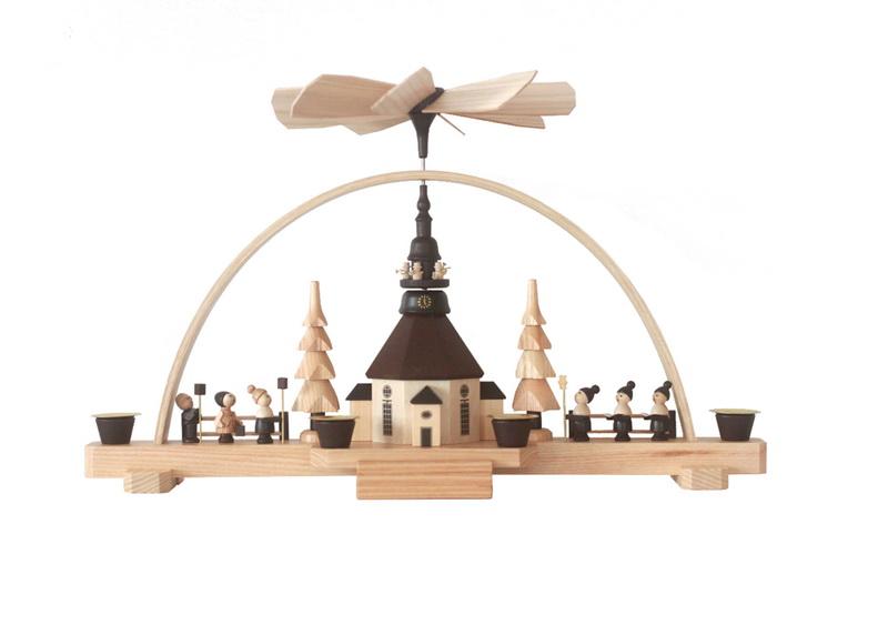 Spielwarenmacher Günther Schwibbogen mit Weihnachtspyramide, 37 cm