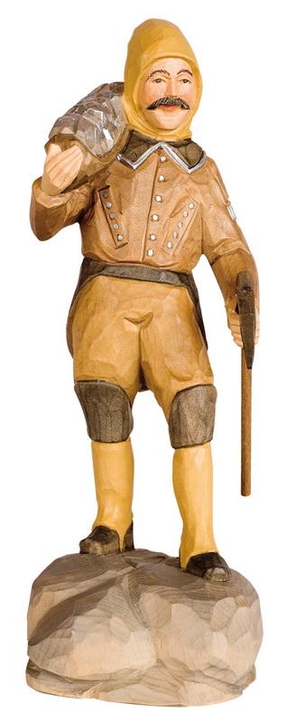 Berghäuer mit Erz, geschnitzt von Schnitzkunst aus dem Erzgebirge