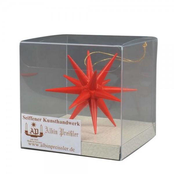 Christbaumschmuck Weihnachtsstern rot, 7 cm hergestellt von Albin Preißler