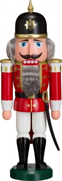 Achtung und still gestanden, es erscheint der Nussknacker Soldat in rot, 38 cm von Seiffener Volkskunst eG Seiffen/ Erzgebirge. Dienten früher die Nussknacker …