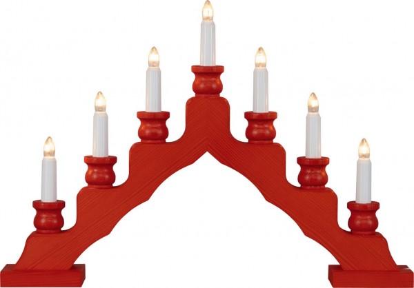 Weigla LED Schwibbogen Trendiger Schwede, rot, 48 cm