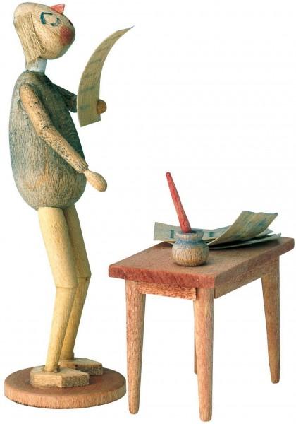 KWO Märchenfigur Bürokrat aus Holz aus dem Erzgebirge