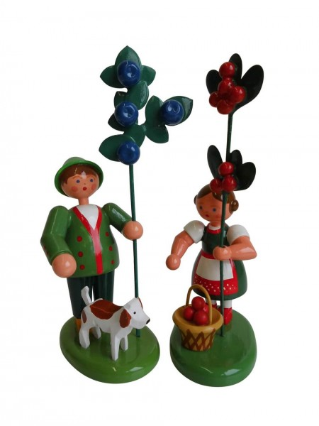 Blumenkinder Försterpaar, 12 cm von WEHA-Kunst Dippoldiswalde/ Erzgebirge