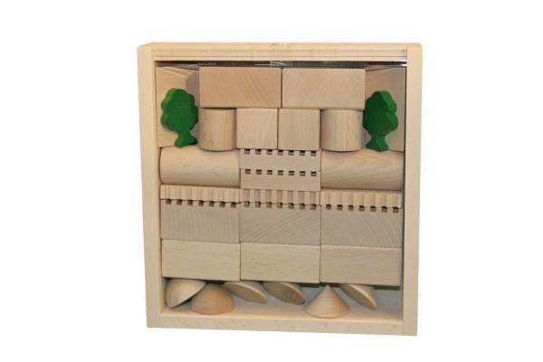 Bausteine und Bauklötze sind eines der ältesten Spielzeuge für Kinder.Der Baukasten Architektur Nr. 2 bietet mit 41 Holzbausteinen viele …