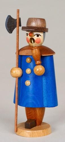 Räuchermann Nachtwächter, blau, 11 cm, Jan Stephani Seiffen/ Erzgebirge