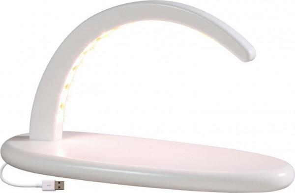 LED Schwibbogen klein, in weiss ohne Bestückung mit USB von Seiffener Volkskunst eG Seiffen/ Erzgebirge. Diese modernen Schwibbögen geben Ihren …