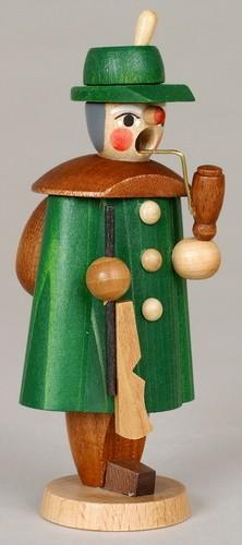 Räuchermann Förster, bunt, 11 cm, Jan Stephani Seiffen/ Erzgebirge