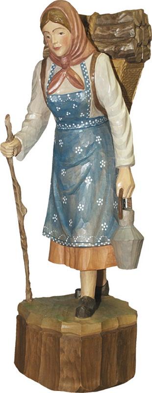 Waldfrau, geschnitzt von Schnitzkunst aus dem Erzgebirge_Bild2