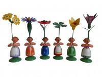 Vorschau: Blumenkinder von WEHA-Kunst Mädchen, 6 Stück, 11 cm_Bild1