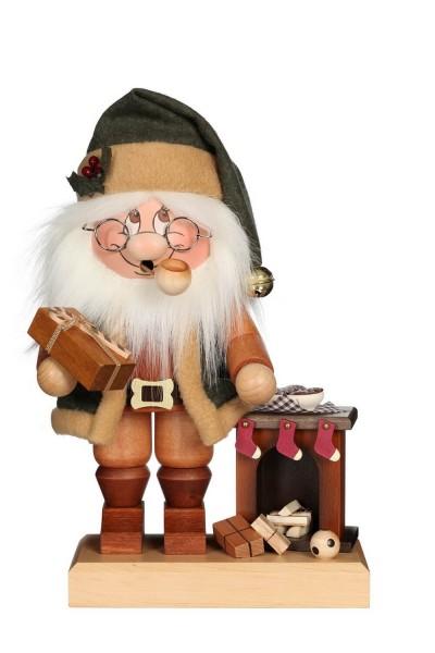 Räuchermännchen Wichtel Weihnachtsmann am Kamin mit seinem freundlichen Gesicht und der typischen Knubbelnase von Christian Ulbricht GmbH & Co KG …