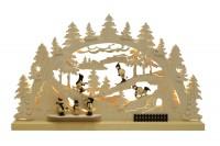 Vorschau: Schwibbogen von Romy Thiel mit dem Motiv Winterlandschaft, 63 cm _Bild1