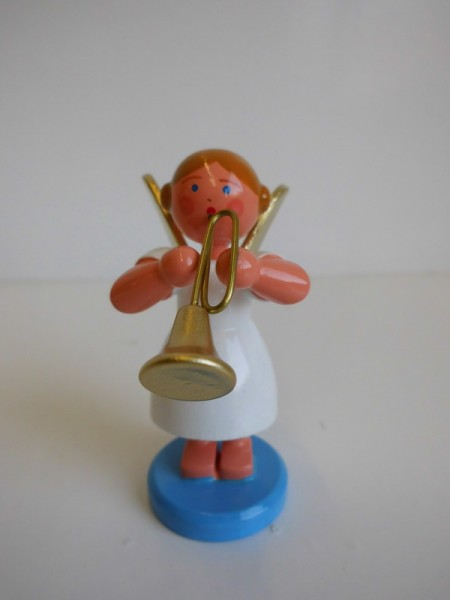 Weihnachtsengel mit Trompete von WEHA-Kunst
