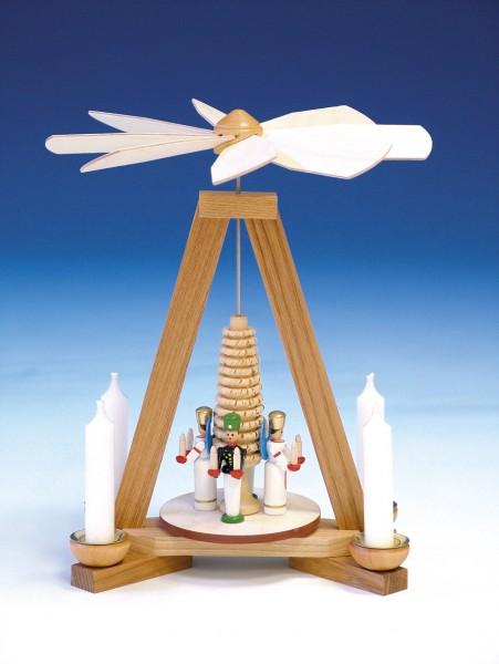 Weihnachtspyramide Engel und Bergmann, 23 cm, Knuth Neuber Seiffen/ Erzgebirge