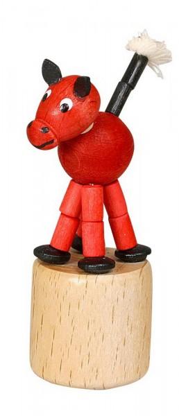 Wackelfigur rotes Pferd von Jan Stephani