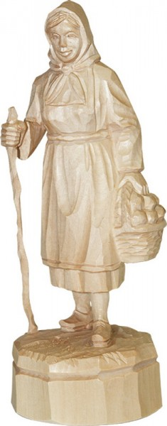 Schwammefrau, natur, geschnitzt, in verschiedenen Größen