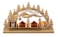 Vorschau: Schwibbogen von Romy Thiel mit dem Motiv Burgweihnacht, 63 cm _Bild1