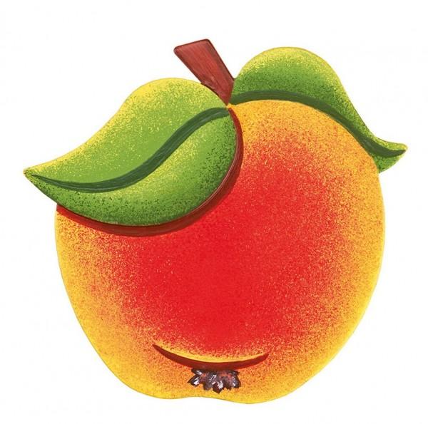 Magnetpin von Hubrig Volkskunst mit dem Motiv Apfel