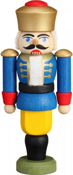 Darf ich vorstellen: Ihre Majestät der Nussknacker König in blau, 9 cm von der Seiffener Volkskunst eG Seiffen/ Erzgebirge. Dienten früher …