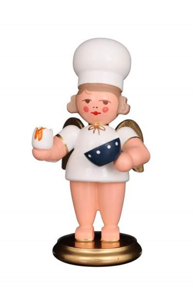Weihnachtsengel - Bäckerengel mit Ei, 8 cm von Christian Ulbricht GmbH & Co KG Seiffen/ Erzgebirge