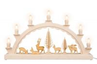 Vorschau: Schwibbogen von Nestler-Seiffen mit geschnitzten Hirschen, elektrisch beleuchtet_Bild1