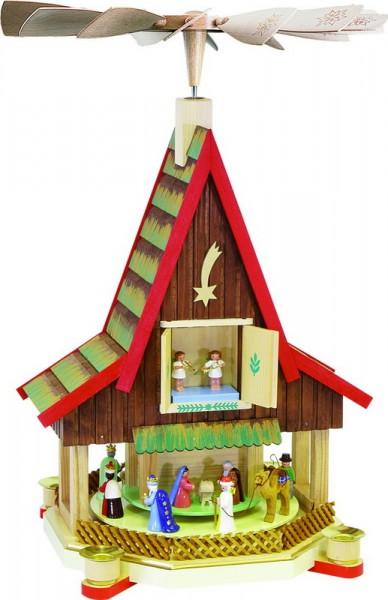 Weihnachtspyramide Adventshaus, 53 cm, Richard Glässer GmbH Seiffen/ Erzgebirge