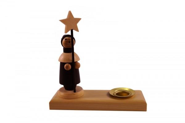 Weihnachtskerzenhalter Kurrende, 8 cm, Spielwarenmacher Günther Seiffen/ Erzgebirge