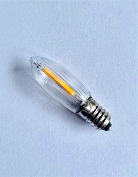 LED-Filament Riffelkerze, 0,2 Watt / 34 V, 3 Stück