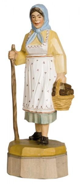Schwammefrau, farbig, geschnitzt, in verschiedenen Größen