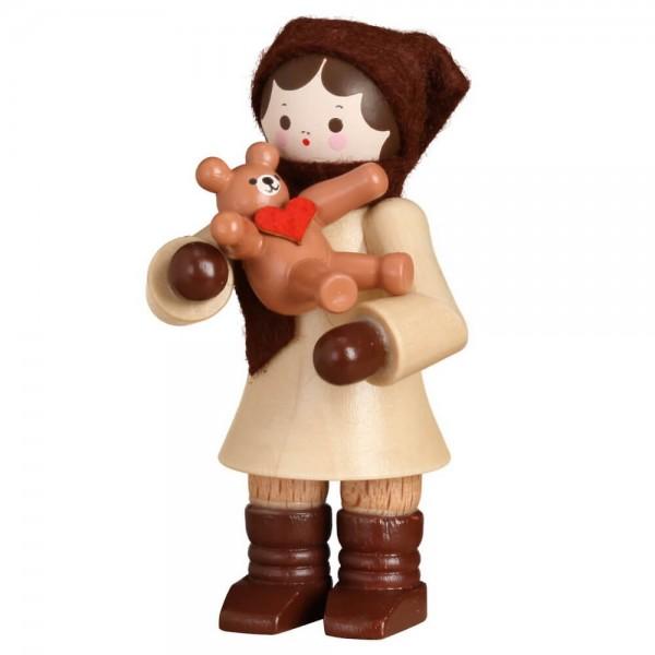 Romy Thiel, Winterkind Mädchen mit Teddy