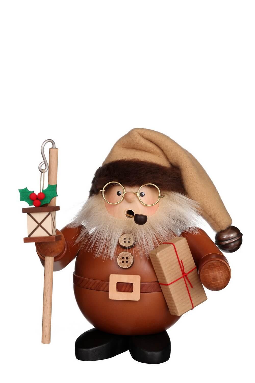 Räuchermännchen Weihnachtsmann mit Laterne, natur, 16 cm, Christian Ulbricht GmbH & Co KG Seiffen/ Erzgebirge