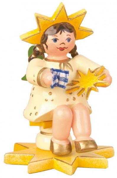 Weihnachtsfigur Sternkind Sternputzer von Hubrig Volkskunst GmbH Zschorlau/ Erzgebirge ist 5 cm groß.