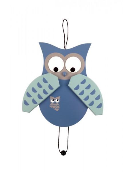 Der hochwertig verarbeitete und wünderschöne Hampelmann Eule in blau ist ein richtiger Blickfang im Kinderzimmer. Babys und Kinder haben ihre helle Freude …