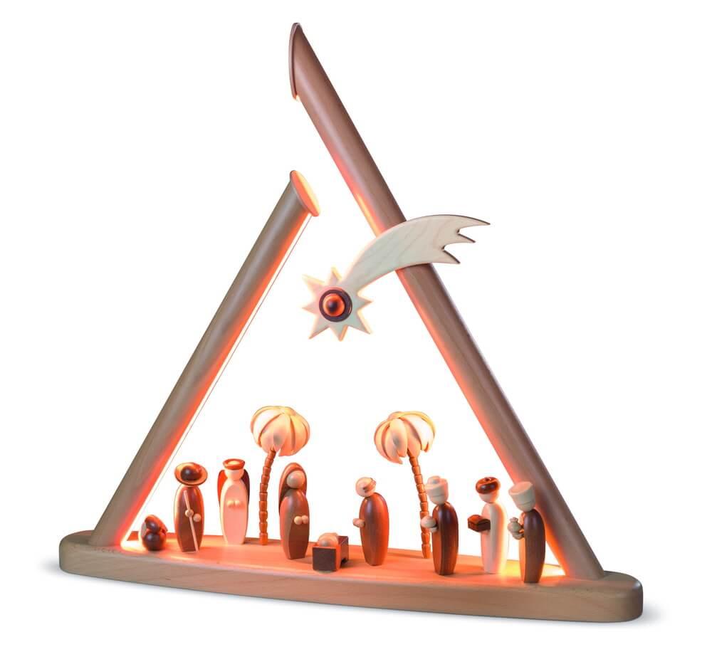 Moderne Lichterspitze Heilige Familie, natur von Müller Kleinkunst