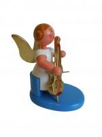 Vorschau: Weihnachtsengel mit Cello, 6 cm von WEHA-Kunst Dippoldiswalde/ Erzgebirge