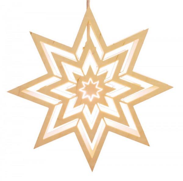 Fensterbild Motiv Stern elektrisch beleuchtet aus dem Erzgebirge