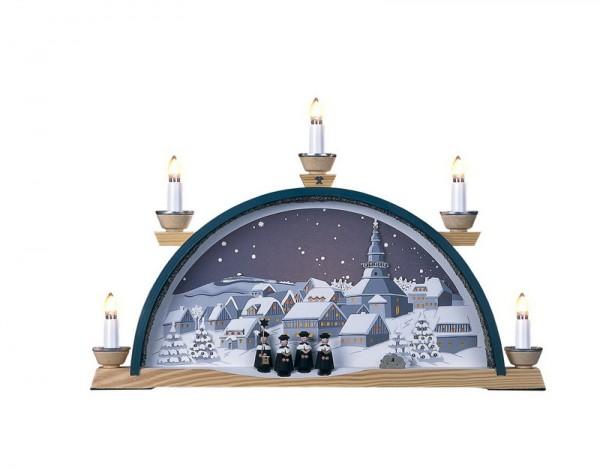 Schwibbogen Sternenhimmel über Seiffen, elektrisch beleuchtet, 45 x 30 cm, Manufaktur Klaus Kolbe Seiffen/ Erzgebirge