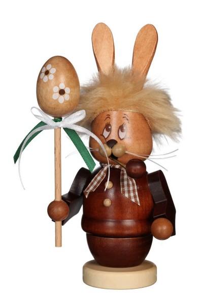 Räuchermännchen Miniwichtel Osterhase mit Stab mit dem niedlichen Gesicht von Christian Ulbricht GmbH & Co. KG Seiffen/ Erzgebirge ist 16 cm groß. Der …