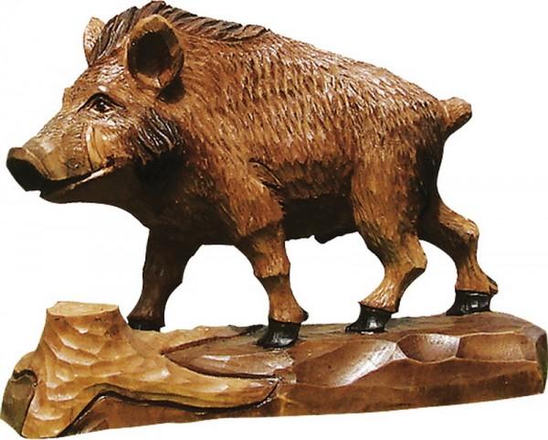 Wildschwein, gebeizt, geschnitzt, in verschiedenen Größen