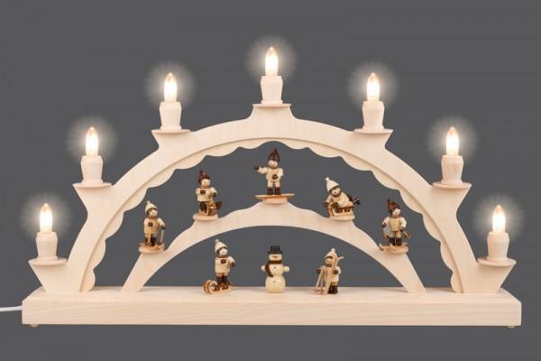 LED Schwibbogen mit Thiel Winterkinder von Nestler-Seiffen