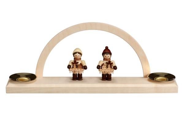 Minischwibbogen mit Striezelkinder von Romy Thiel für Wachskerzen von Nestler-Seiffen_Bild1