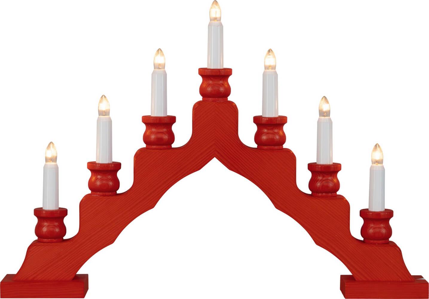 Weigla Schwibbogen Trendiger Schwede, rot, 48 cm