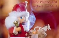 Vorschau: Rauchknacker, Räuchermann und Nussknacker vereint in einer Figur, farbig aus Holz von Müller Kleinkunst aus Seiffen